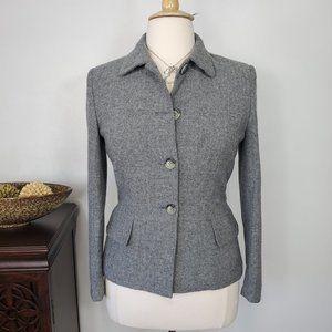Dressbarn Herringbone Wool Blend Blazer, Jacket 12